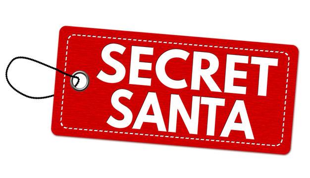 Secret Santa label or price tag