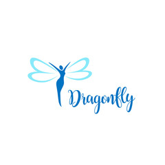 Vector logo design. Dragonfly sign