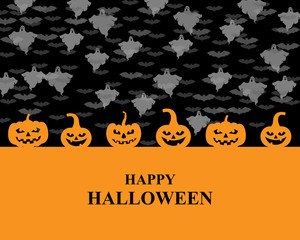 Halloween greeting pumpkins card