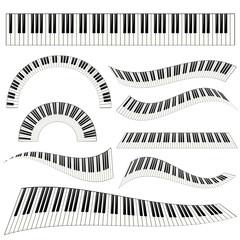 piano kayboard set illustration