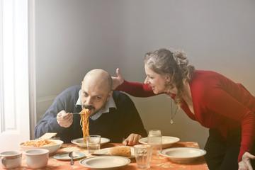 Lunchtime quarrel