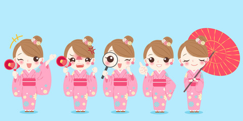 woman wear kimono