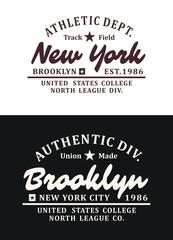 Set Typography Design T-shirt Graphic