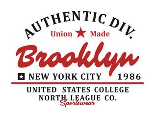 Brooklyn Athletics t-shirt graphic