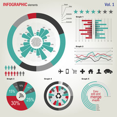 Vector infographics elements set