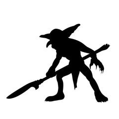 Goblin silhouette monster villain fantasy