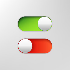 Phone switch icon. On off toggle for design applications. Phone vector slider bar