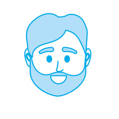silhouette avatar man head to social user