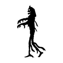 Mummy halloween silhouette scary monster fantasy