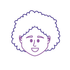 line avatar woman head to social user