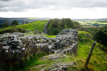 Hadrian's Wall at Walltown Crags