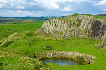 Whin Sill in Northumberland