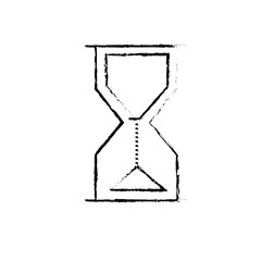 figure hourglass object design to know the time