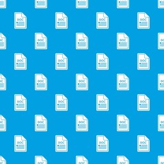 File DOC pattern seamless blue