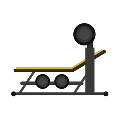 press machine gym fitness or sport related icon image vector illustration design