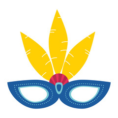 carnival mask with string icon image vector illustration design