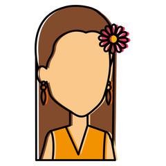 hippie woman avatar character