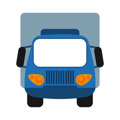 truck frontview icon image vector illustration design