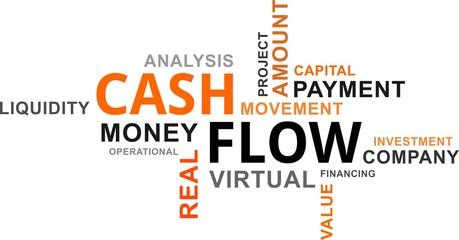 word cloud - cash flow