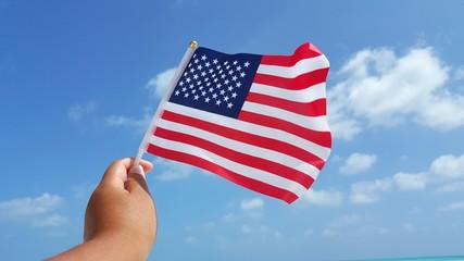 P01507 US USA American flag background