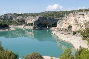 Santolea Reservoir in Teruel, Aragon, Spain