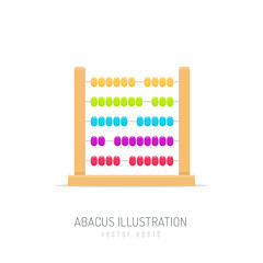Abacus vector illustration in flat style