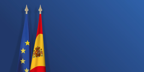 drapeau - Espagne - Europe - espagnol - européen - présentation - fond - catalogne