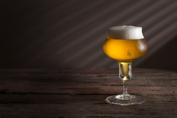 Pale beer in a glass