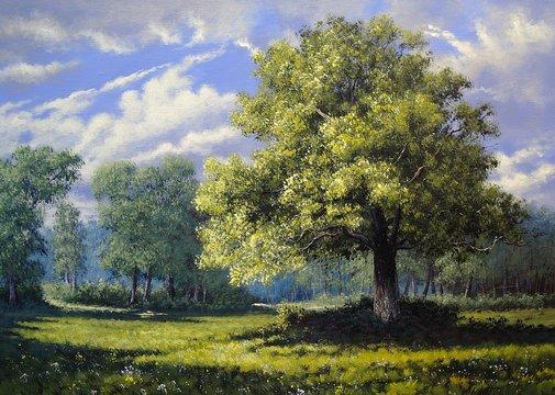 Oil paintings landscape,trees, art