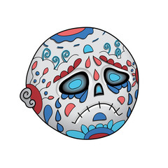 Emoji Cry Dead. Dia de Los Muertos. Day of The Dead Vector Illustration
