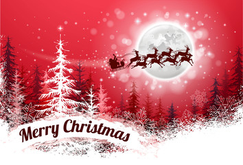 christmas snowcapped greeting