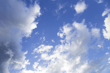 Blue sky with beautiful clouds.