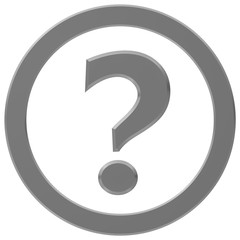 question mark questions silver grey gray 3d interrogation point asking sign symbol icon punctuation mark isolated on white