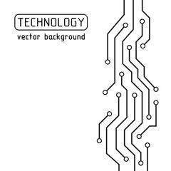 Circuit board. Technology vector background. Abstract futuristic illustration. Hi-tech concept.