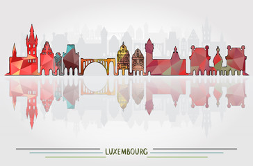 Vector Luxembourg City background