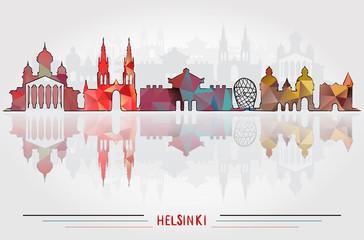 Vector Helsinki City background