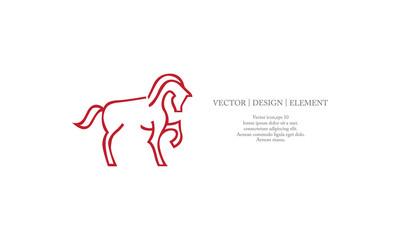 outlines horse logo