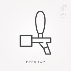 Line icon beer tap