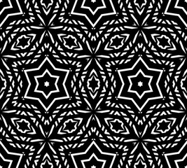 Delicate vector seamless pattern, ornament geometric texture. Stars background.