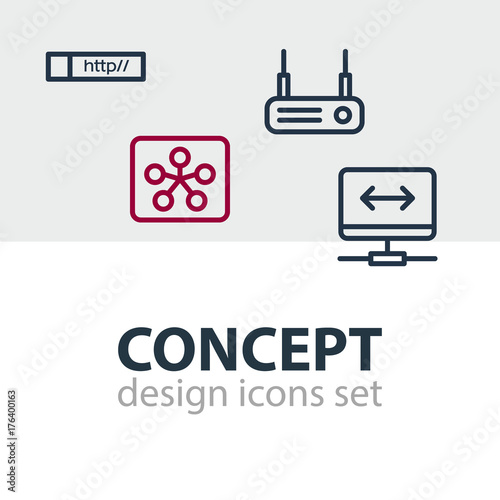 Vector illustration of 4 internet web icons editable pack of link vector illustration of 4 internet web icons editable pack of link virtual private ccuart Image collections