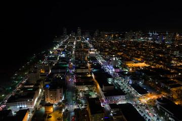 Aerial photo South Beach SoBe Miami FL