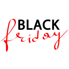 handlettering vector illustration inscription of black friday for design of banners, cards, flyers, posters, prints, brochures