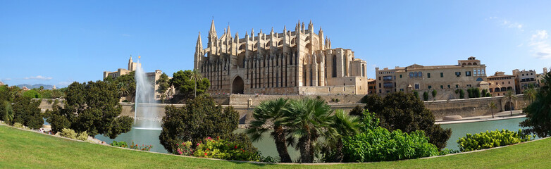 Foto auf AluDibond Denkmal Cathédrale de Palma de Majorque