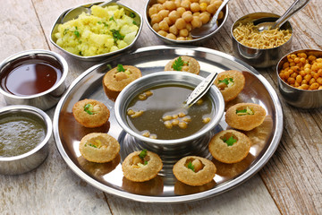 homemade pani puri, golgappa, indian snack