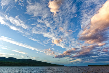 Dramatic sky with clouds pattern