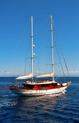 sailboat to the Aeolian Islands