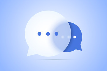 Chat vector illustration with speech bubble symbols.
