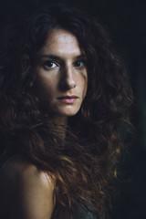 Dark Portrait of a beautiful woman