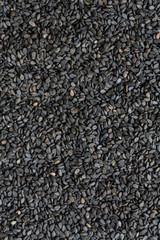 Black sesame seeds background