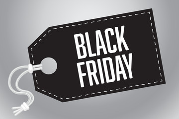 Tag Black Friday Sale Vector Illustration 1
